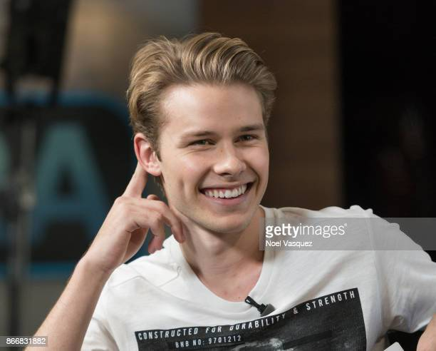 Logan Shroyer visits 'Extra' at Universal Studios Hollywood on October 26 2017 in Universal City California