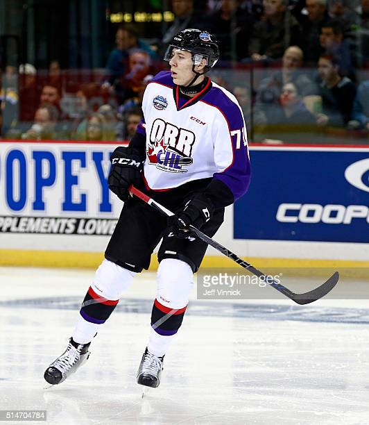 Logan Stanley of Team Orr skates up ice during the CHL/NHL Top Prospects Game January 28 2016 at Pacific Coliseum in Vancouver British Columbia Canada
