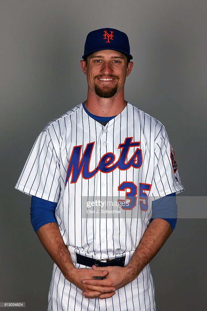 Logan Verrett #35 of the New York Mets poses during Photo Day on Tuesday March 1, 2016 at Tradition Field in Port St. Lucie, Florida.