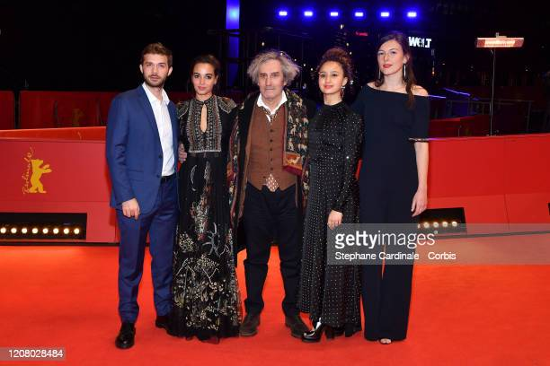LR Logann Antuofermo Souheila Yacoub wearing Dior director Philippe Garrel Oulaya Amamra and Louise Chevillotte pose at the The Salt of Tears...