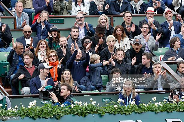 Loge Lacoste Stephane Freiss Jerome Commandeur Melanie Bernier Manu Katche with his wife Laurence Pascal Legitimus with his wife Adriana Santini...