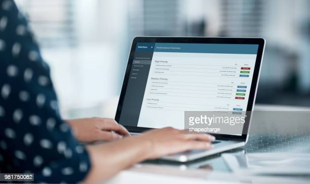 logged into work productivity - using computer stock photos and pictures