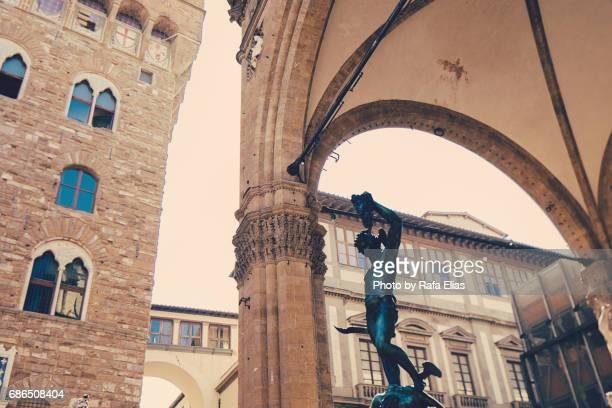 Loggia dei Lanzi in Florence (Tuscany, Italy)