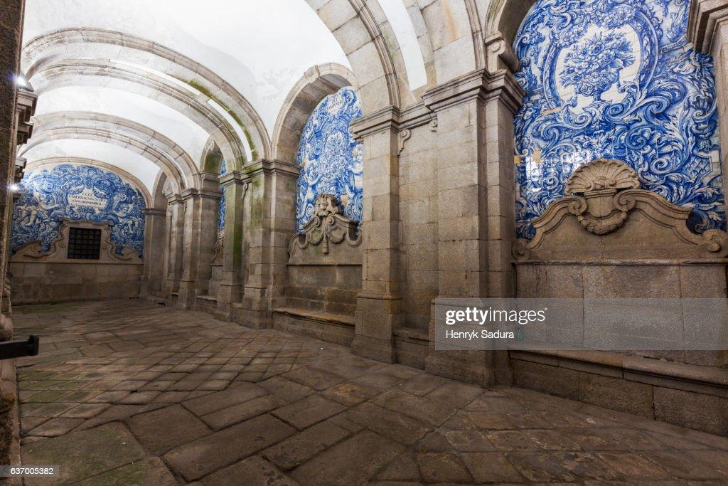 Loggia of Se Cathedral in Porto : Stock Photo