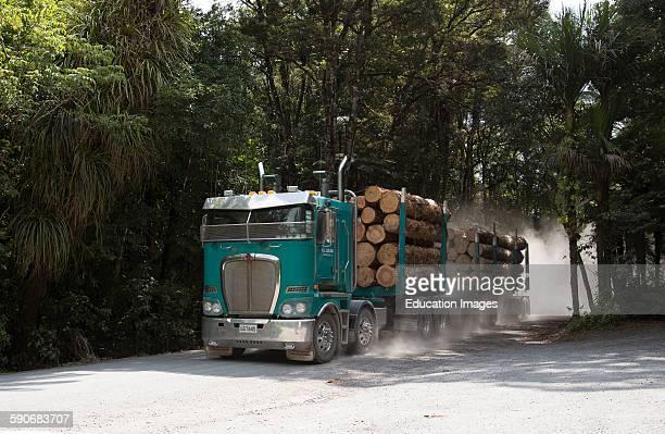 Logging truck at Manginangina North Island New Zealand