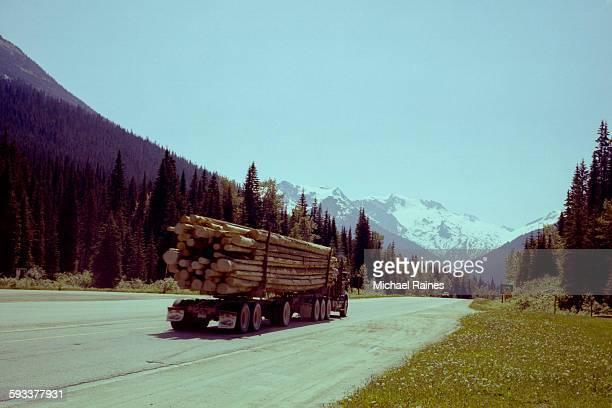 Logging Truck in British Columbia