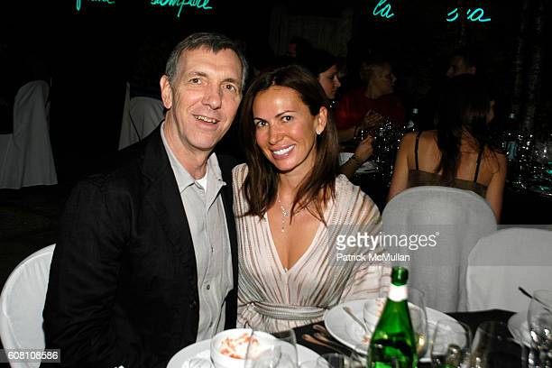 Logheed and Inga Rubenstein attend R I Group Hosts A VIP Dinner For Barney/Bueys at The Peggy Guggenheim Collection on June 5 2007 in VENICE ITALY