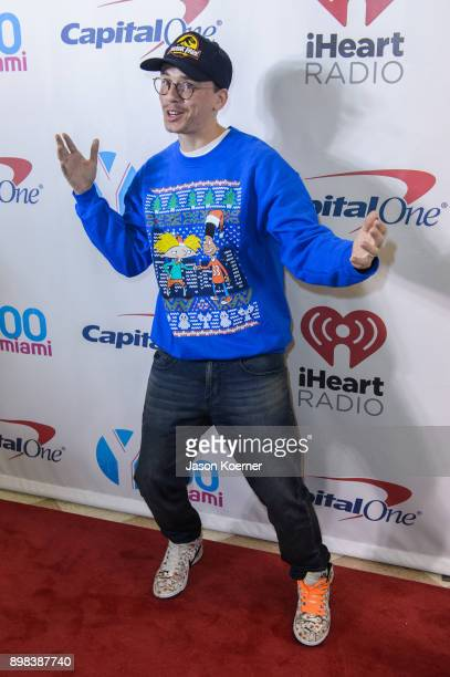 Logic arrives at the IHeartRadio Jingle Ball 2017 at BBT Center on December 17 2017 in Sunrise Florida
