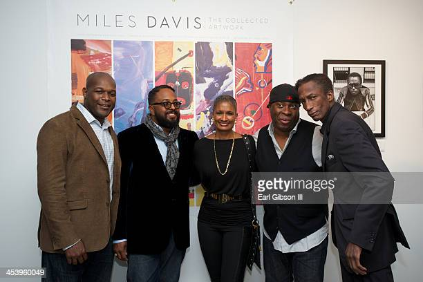 Logic, Erin Davis , Carla Kemp, Vince Wilburn Jr. And Michael Wright at Gallery 151 on December 5, 2013 in New York City.