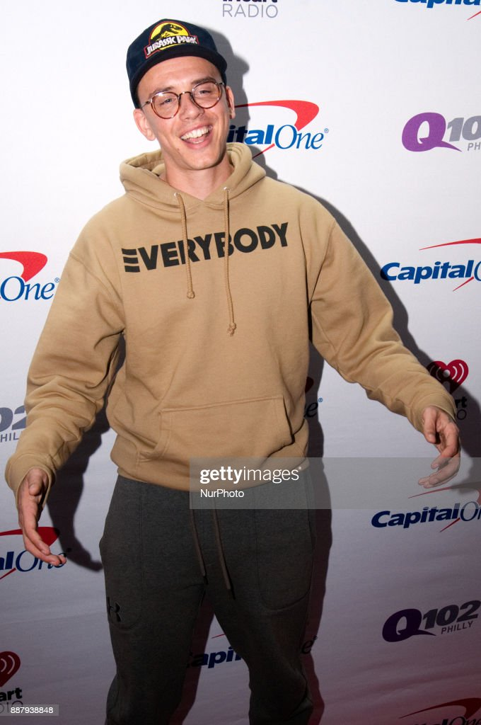 Logic makes a red carpet appearance ahead of the Q102's iHeartRadio Jingle Ball 2017 at the Wells Fargo Center in Philadelphia, PA, on December 6, 2017.