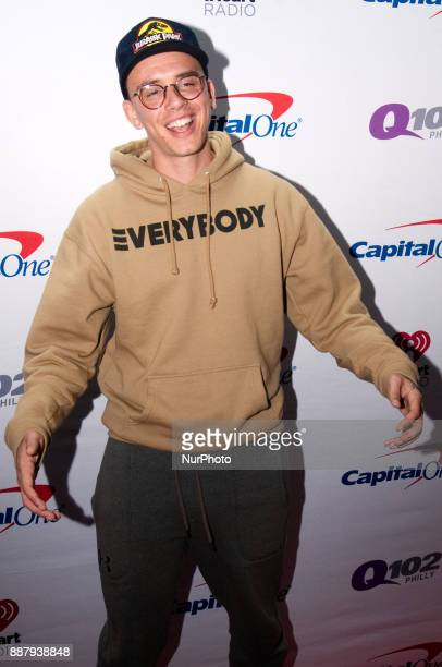 Logic makes a red carpet appearance ahead of the Q102's iHeartRadio Jingle Ball 2017 at the Wells Fargo Center in Philadelphia PA on December 6 2017