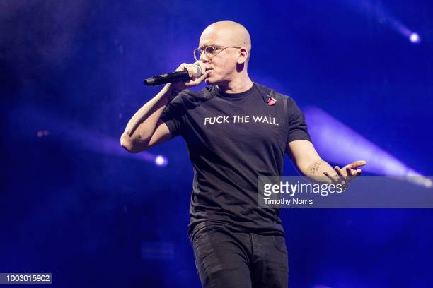Logic performs at The Forum on July 20 2018 in Inglewood California