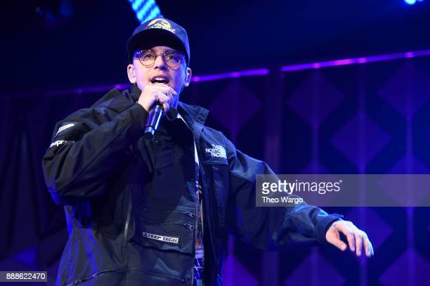 Logic performs at Z100's Jingle Ball 2017 on December 8 2017 in New York City