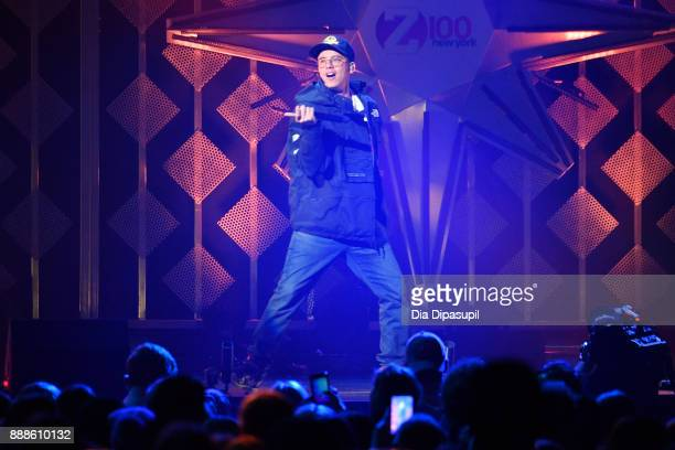 Logic performs onstage at the Z100's Jingle Ball 2017 on December 8 2017 in New York City