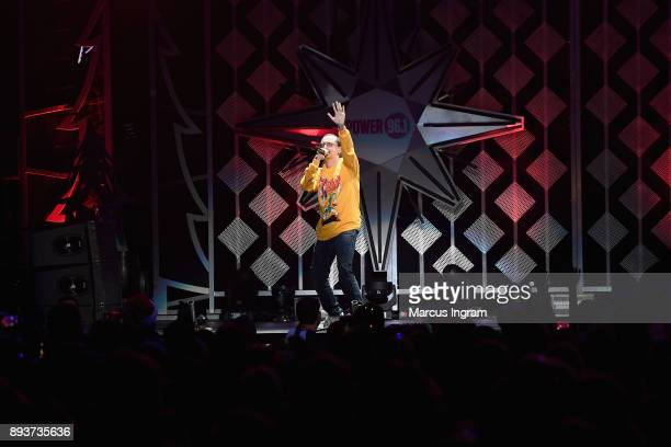 Logic performs onstage during Power 961's Jingle Ball 2017 Presented by Capital One at Philips Arena on December 15 2017 in Atlanta Georgia