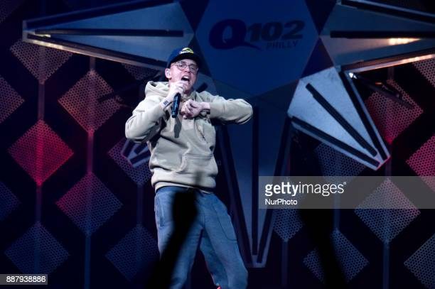 Logic performs onstage during the Q102's iHeartRadio Jingle Ball 2017 at the Wells Fargo Center in Philadelphia PA on December 6 2017