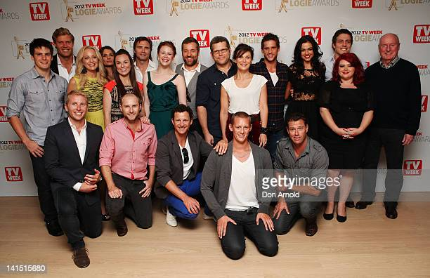 Logies nominees pose at the TV Week Logie Awards nominations announcement at the Park Hyatt Hotel on March 18 2012 in Sydney Australia
