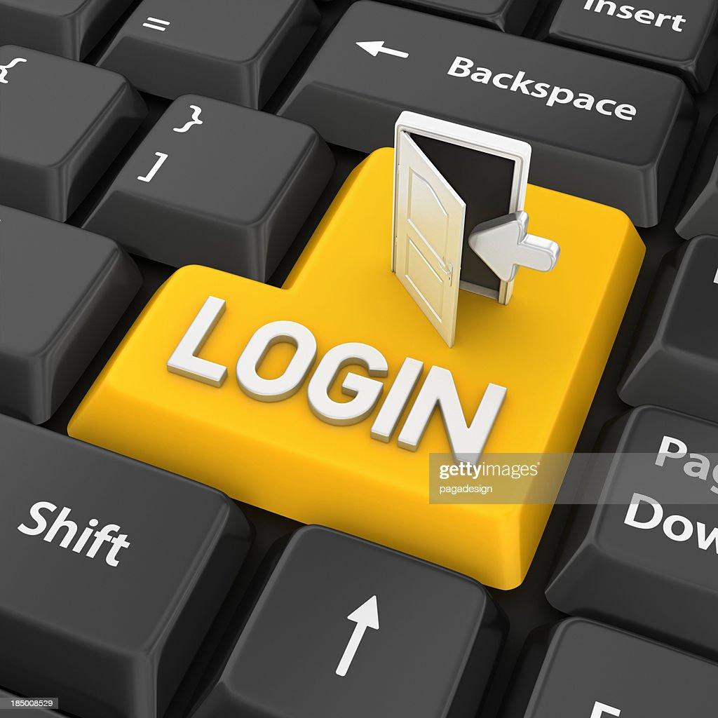 login enter key : Stock Photo