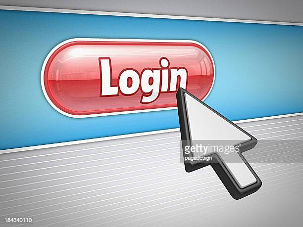 login - internet button - cursor stock pictures, royalty-free photos & images
