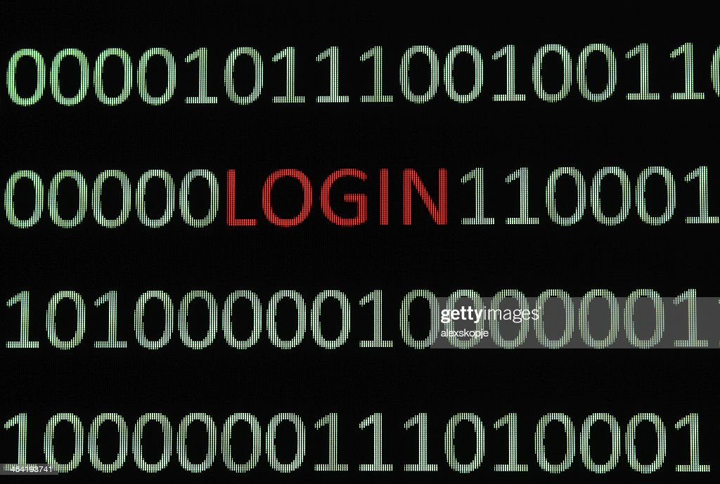 Login : Stock Photo