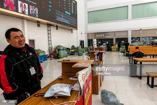 A logistic service center on the first floor of an ecommerce base in Hangzhou where wholesalers supply clothes goods for Taobao shop owners Taobao...