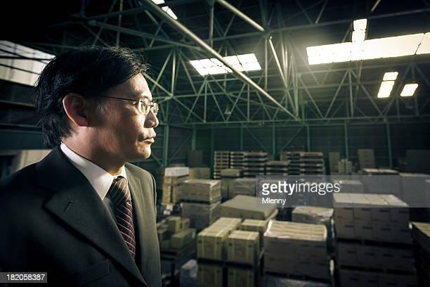 Logistics Manager Warehouse Business Portrait