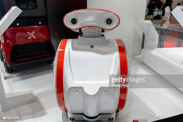 Logistics robot of JDcom JDcom shows its smart technology in ecommerce to the visitors The 2nd World Intelligence Congress was held in Tianjin...