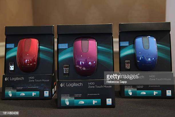 Logitech on display at the HBO Luxury Lounge featuring Motorola and PANDORA Jewelry in honor of The 65th Primetime Emmy Awards at The Four Seasons...