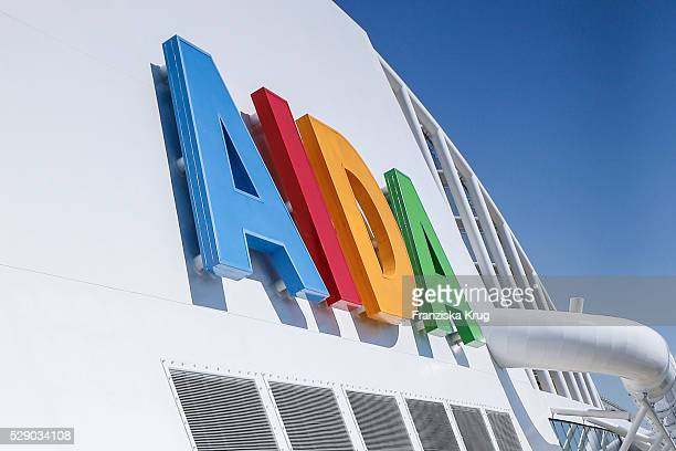 AIDA logo at the AIDAprima Cruise Ship Baptism on May 7 2016 in Hamburg Germany