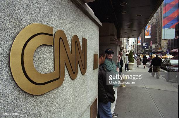 Logo at the entrance of the CNN head office