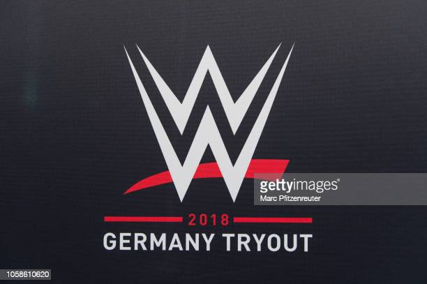 Logo at the WWE Live Tryout at the Motorworld on November 7 2018 in Cologne Germany