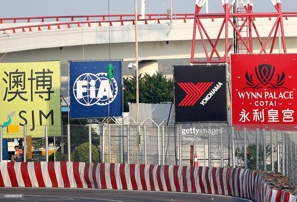 Logo billborad stands during the Qualifying-Provisional    News