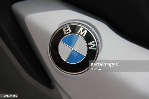 BMW Logo can be seen on a bike in New Delhi India on 21 July 2018