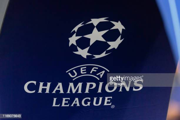 Logo Champions League are seen during the UEFA Champions League group H match between AFC Ajax and Lille OSC at Amsterdam Arena on September 17 2019...