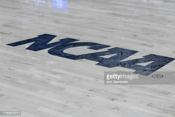 NCAA logo during the 2019 Div 1 Championship Second Round college basketball game between the Kentucky Wildcats and the NC State Wolfpack on March 25...