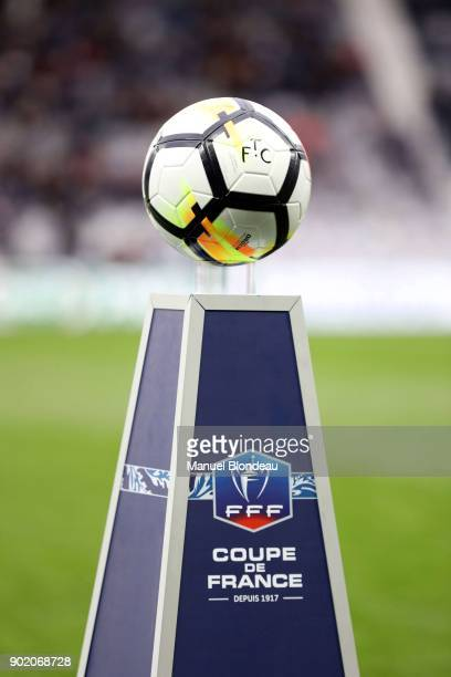 Logo during the french National Cup match between Toulouse and Nice on January 6 2018 in Toulouse France