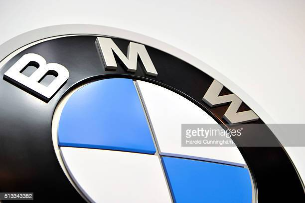 BMW logo is displayed during the Geneva Motor Show 2016 on March 2 2016 in Geneva Switzerland
