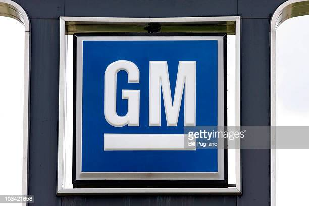 GM logo is seen at a General Motors used car dealership at the Troy Motor Mall August 17 2010 in Troy Michigan GM intends to file paperwork as soon...