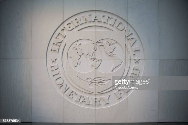Logo is seen at the International Montary Fund headquarters in Washington, United States on April 24, 2017.