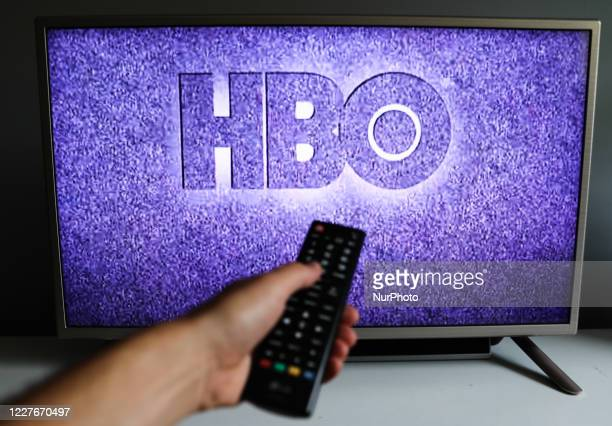 HBO logo is seen displayed on TV screen in this illustration photo taken in Poland on July 17 2020 OnDemand streaming services gained popularity and...