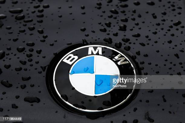 BMW logo is seen on a car in Berlin Germany on 25 September 2019