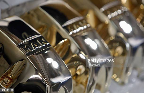 Logo is seen on an engine during the company's annual shareholders' meeting in Munich, Germany, on Thursday, April 1, 2010. MAN SE, Europe's...