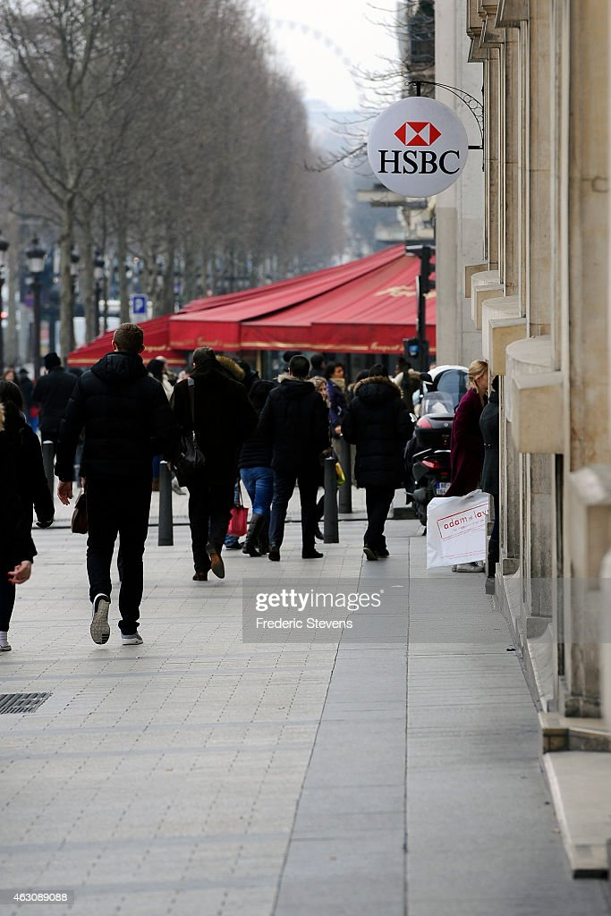 A HSBC logo is seen on HSBC offices on February 9, 2015 in