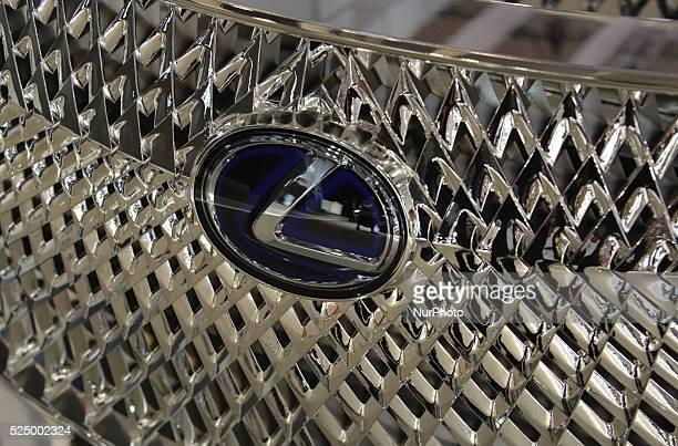 Logo Lexus car at 44th Tokyo Motor Show 2015 in Tokyo Big Sight on October 29 Tokyo Japan