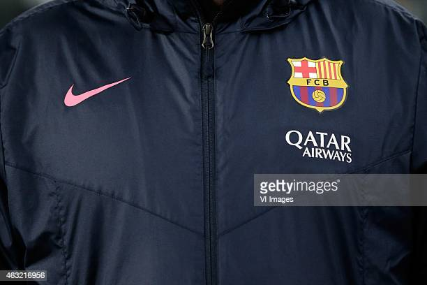 Logo Nike Qatar Airways FC Barcelona during the Copa del Rey match between FC Barcelona and Villarreal at Camp Nou on february 11 2015 in Barcelona...