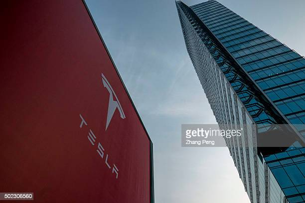 Logo of a Tesla shop in Beijing CBD Tesla's sales in China appear to be taking off EV sales in China have grown at a tripledigit clip yeartodate...