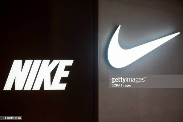 Logo of an American multinational sport clothing brand Nike seen in Hong Kong.