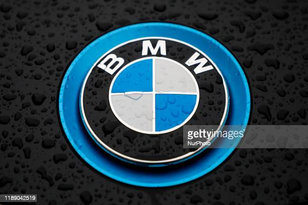 Logo of BMW car is pictured in the street of London United Kingdom on 12 December 2019