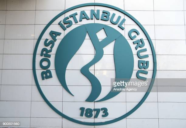 Logo of Borsa Istanbul is seen at BIST office in Istanbul Turkey on January 02 2018