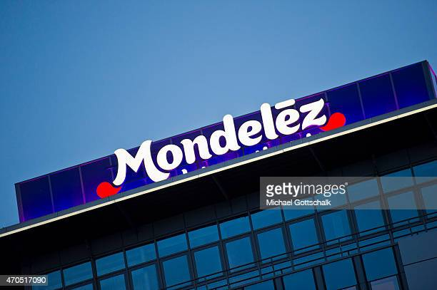 Logo of Food Manufacturer Mondelez International formerly known as Kraft Foods at their headquarters on April 15 2015 in Bremen Germany